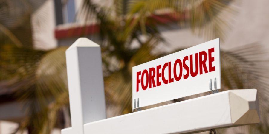 in foreclosure